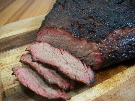 Texas-barbecued beef brisket