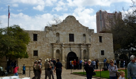 The Alamo was setting up for the reception of the Travis letter