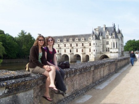 Chenonceau with Laurel. May 2008
