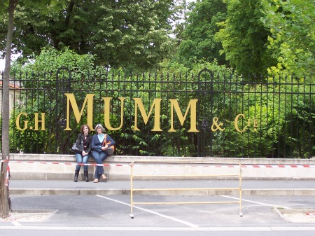 Outside Mumm champagne house. June 2008.