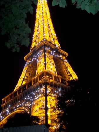 The Eiffel Tower twinkling. June 2008.