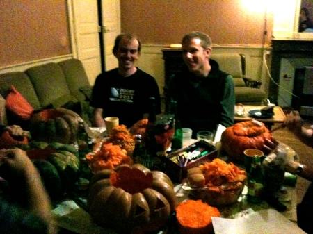 Pumpkin carving. Oct 2011