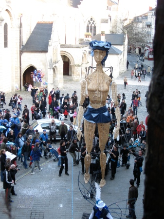 Carnaval in Poitiers, from my window. Feb 2011