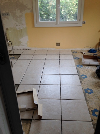 Starting the tiling