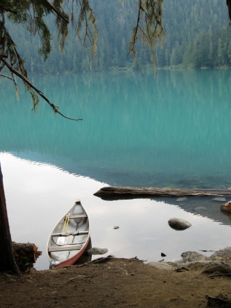 Where this canoe came from, I don't know. The lake was pristine.