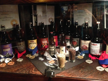 Some of the beers we drank (though we had them on tap)