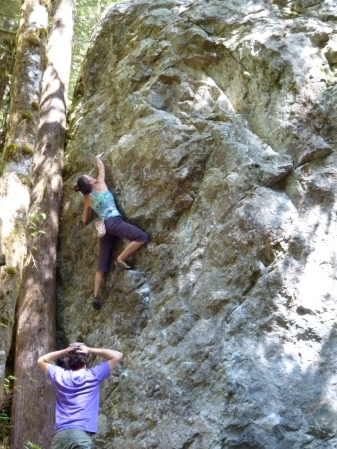 "What's called a ""high-ball"": bouldering that should not be called bouldering."