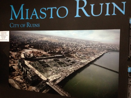 Photograph of the city after the uprising (you can watch a 3D movie of this in the musem)