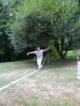 Slack-line (photo by J's sister)