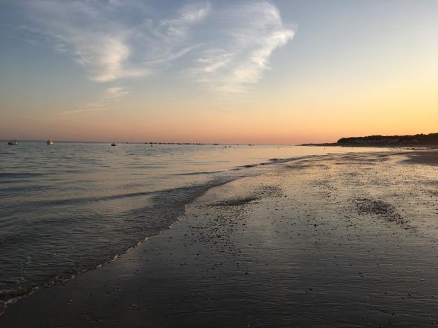 Plage Sainte Anne at sunset